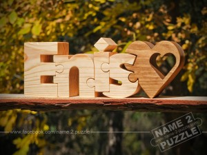 Personalised gifts from wood name puzzle Enis