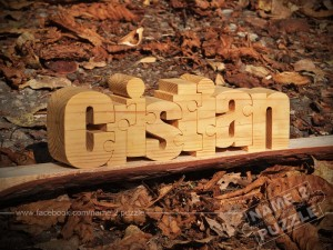 Personalised gifts from wood name puzzle Cristian