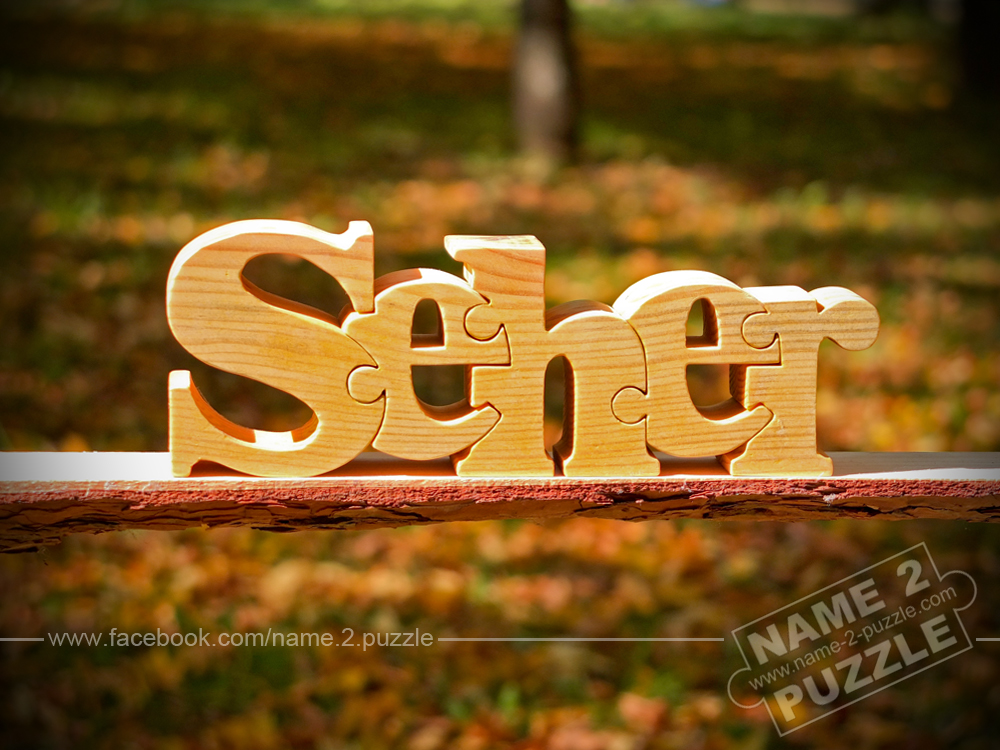 Personalised gifts from wood name puzzle Seher