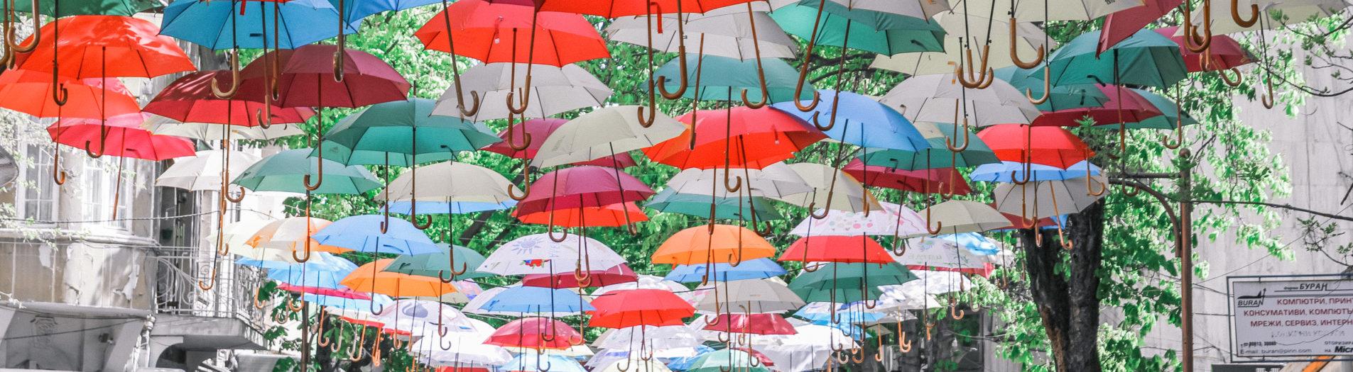Чадърите в Благоевград