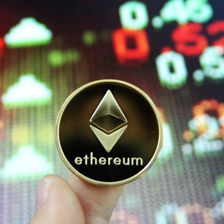 Bitcoin and Ethereum stock photos