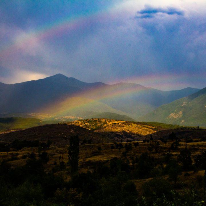 Двойна дъга под връх Пирин