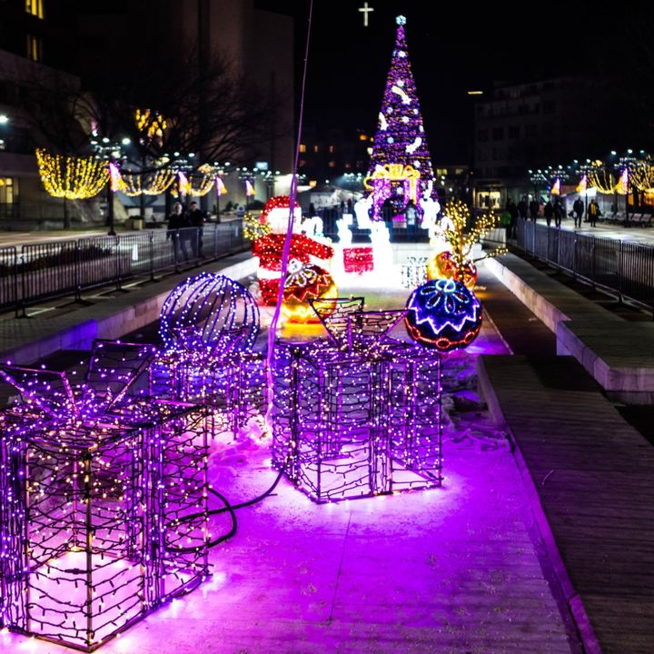 Коледното украшение на Благоевград